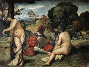 TIZIANO Vecellio Field concert oil painting reproduction