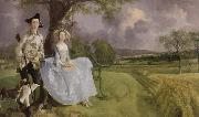 Thomas Gainsborough mr.and mrs.andrews oil painting picture wholesale