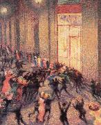 Umberto Boccioni a fight in the arcade oil painting picture wholesale