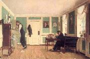 Wilhelm Ferdinand Bendz Zimmer an Amaliegade oil painting reproduction