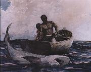Winslow Homer shark fishing oil painting picture wholesale