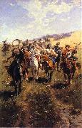 jozef brandt Cossack oil painting picture wholesale
