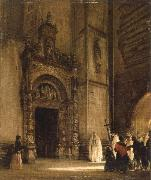 rudolph von alt side portal of como cathedral oil painting picture wholesale