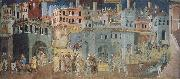 unknow artist Peaceful city oil painting picture wholesale