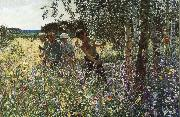 unknow artist Grass playing time oil painting picture wholesale