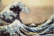 unknow artist Kanagawa surfing oil painting reproduction