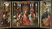 unknow artist There are saints and the altar painting of Our Lady of the Angels oil painting picture wholesale