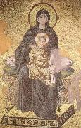 unknow artist On the throne of the Virgin Mary with Child oil painting picture wholesale