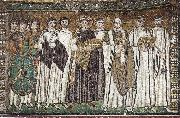 unknow artist Justinian, Bishop Maximilian Annus and entourage oil painting picture wholesale