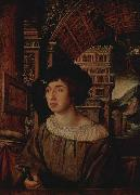 Ambrosius Holbein Portrait of a Young Man, oil