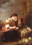 Bartolome Esteban Murillo The Little Fruit Seller oil painting picture wholesale