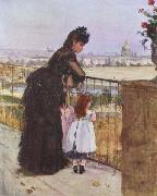 Berthe Morisot On the Balcony oil painting picture wholesale