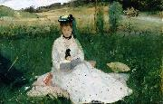 Berthe Morisot Reading, oil painting picture wholesale