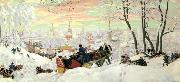 Boris Kustodiev Maslenitsa Tuesday oil painting picture wholesale