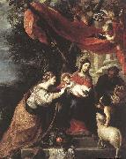 CEREZO, Mateo The Mystic Marriage of St Catherine oil