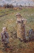 Camille Pissarro woman with children oil painting picture wholesale