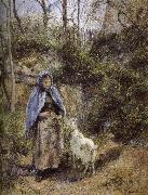 Camille Pissarro Woman sheep oil painting picture wholesale