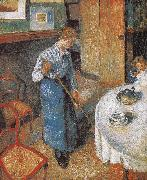 Camille Pissarro maid oil painting picture wholesale