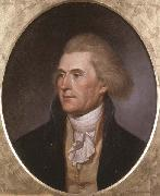 Charles Willson Peale Portrait of Thomas Jefferson oil