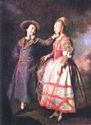 Dmitry Levitzky E. N. Khruschova and Princess E. N. Khovanskaya. oil painting reproduction