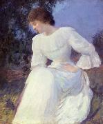 Edmund Charles Tarbell Woman in White, oil painting picture wholesale