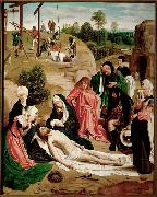 Geertgen Tot Sint Jans Geertgen painted The Lamentation of Christ for the altarpiece of the monastery of the Knights of Saint John in Haarlem oil painting picture wholesale