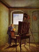 Georg Friedrich Kersting Caspar David Friedrich in his Studio oil painting picture wholesale