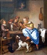 Jan Steen Children teaching a cat to dance oil painting picture wholesale
