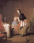 Jean Baptiste Simeon Chardin Dressed in the morning oil painting picture wholesale