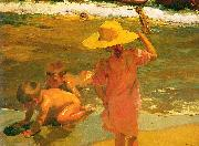 Joaquin Sorolla Children on the Seashore, oil painting picture wholesale