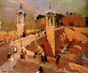 Joaquin Sorolla Valencia Bridge oil painting reproduction