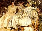 Joaquin Sorolla My Wife and Daughters in the Garden, oil painting picture wholesale