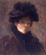 Lilla Cabot Perry Self Portrait oil painting artist