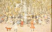 Maurice Prendergast In Central Park New York ( oil painting picture wholesale