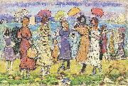 Maurice Prendergast Sunny Day at the Beach oil painting picture wholesale