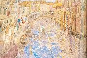 Maurice Prendergast Venetian Canal Scene oil painting picture wholesale