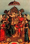 Raja Ravi Varma Asthasiddi oil painting picture wholesale