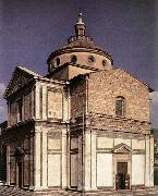 SANGALLO, Giuliano da Exterior of the church begun oil painting artist