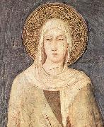 Simone Martini detail depicting Saint Clare of Assisi from a fresco  in the Lower basilica of San Francesco oil painting picture wholesale