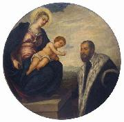 Tintoretto Madonna with Child and Donor, oil painting picture wholesale