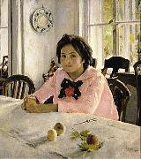 Valentin Serov The girl with peaches  was the painting that inaugurated Russian Impressionism. oil painting artist