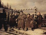 Vasily Perov At the railroad oil painting picture wholesale