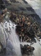 Vasily Surikov March of Suvorov through the Alps oil painting picture wholesale