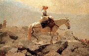 Winslow Homer Hakusan in horse riding trails oil painting reproduction