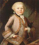 antonin dvorak mozart at the age of six in court dress, painted p a lorenzoni oil painting