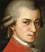 antonin dvorak wolfgang amadeus mozart, painted nearly three decades after his death by barbara krafft oil painting