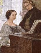 johannes brahms clara and robert scumann oil painting picture wholesale