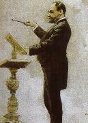 johannes brahms dvorak conducting at the chicago world fair in 1893 oil painting picture wholesale