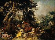 Abraham Bloemaert Landscape with the Ministry of John the Baptist. oil