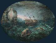 Adam Willaerts Shipwreck Off a Rocky Coast. oil painting